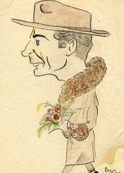 Lello-Longhi-in-una-caricatura-del-1946-realizzata-da-Corrado-Olmi