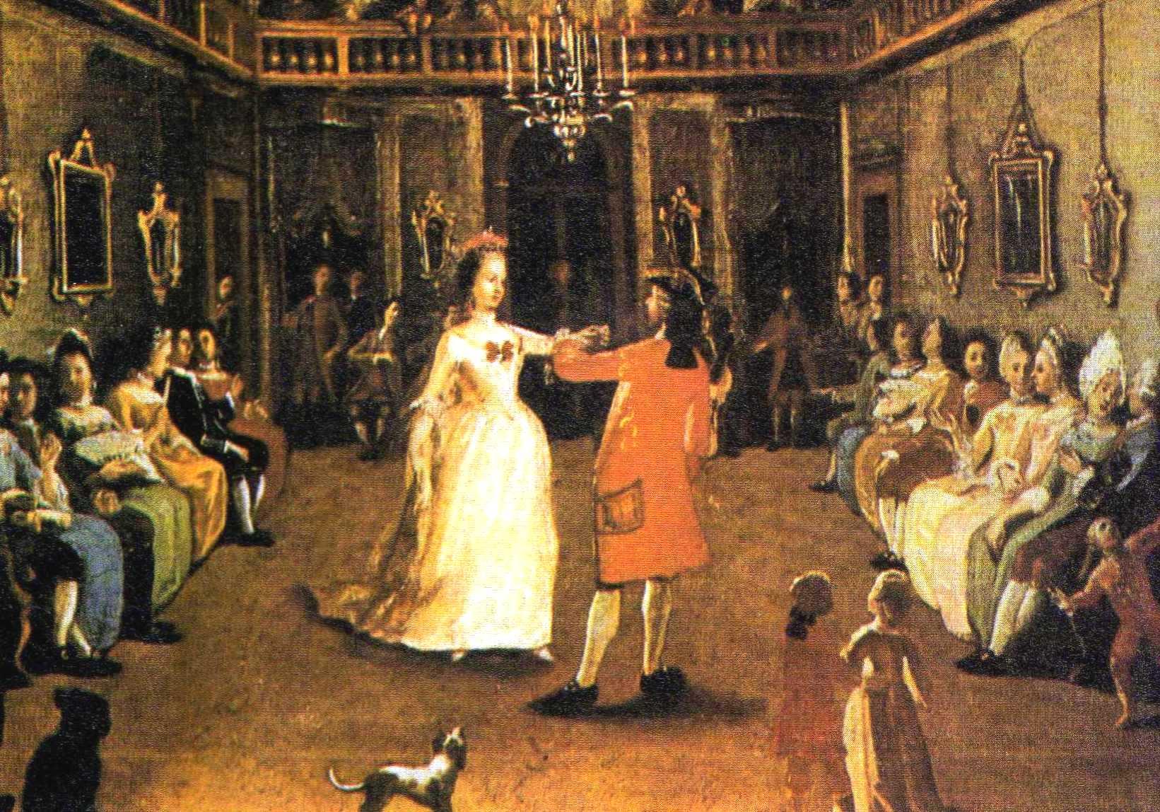 festa ballo in palazzo '700