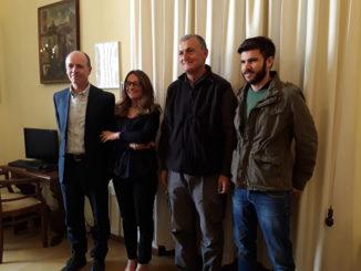 Da sinistra, Gonano, Napolitano, Negozi e D'Apolito