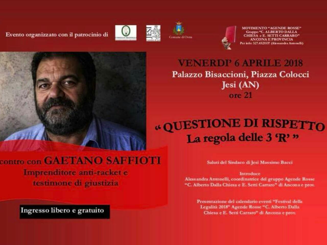 Gaetano saffiotti agende rosse anti racket