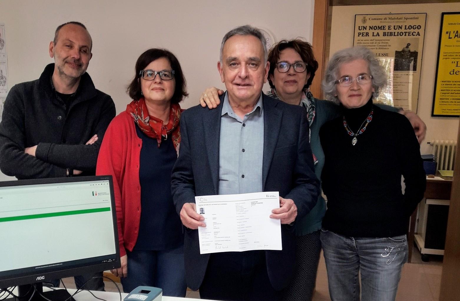 prima carta elettronica_sindaco con Ufficio Anagrafe