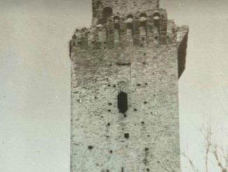 La torre di Jesi in uno scatto degli anni '20