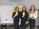 Conf Stampa Regione – mostra Alza il triangolo al cielo. Da sinistra Paola Sabbatini, Manuela Bora e Selena Morici
