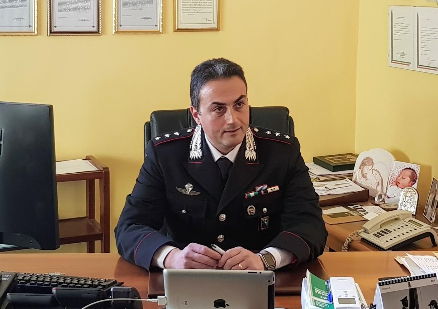 Capitano Simone Vergari, Comandante della Compagnia di Jesi
