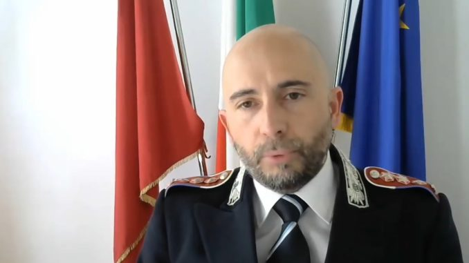 Il comandante Cristian Lupidi