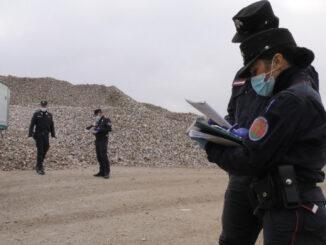 controllo presso impianto rifiuti