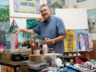Carlo Iacomucci nel suo studio